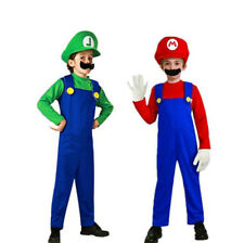 Super Mario Costume Kids and Toddler Mario Bros Brothers Halloween Fancy Dress