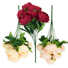 10 HEAD PEONY SPRAY BUNCH -  Red, Pink or Champagne | Floral Arrangement