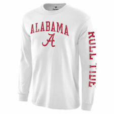 Alabama Crimson Tide White Distressed Arch Over Logo Long Sleeve Hit T-Shirt
