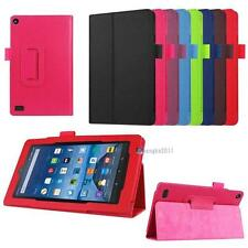 1x for Amazon Kindle Fire 7 Tablet 2015 PU Leather Protective Case Skin Cover FN