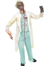 Adult Zombie Dead Doctor Mens Halloween Horror Fancy Dress Party Costume Outfit