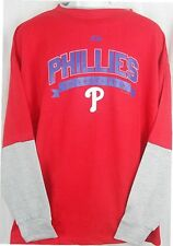 Philadelphia Phillies Majestic Long Sleeve Tee Shirt Mens Size 2XL & 6XL