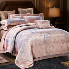 Luxury Flamingo With Noble Understated Pattern 4PC Bed Set Queen&King Size