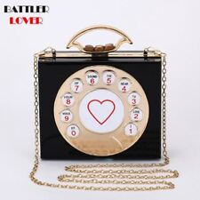 Metal Heart Clutch Hollow Relief Acrylic Luxury Handbag Party Purse Shoulder bag