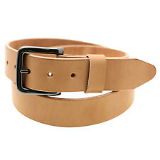 Orion Leather 1/2 Natural Tan Harness Leather Belt Raw Edge Made In USA