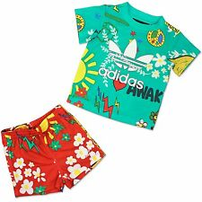 Adidas Kids Summer Sports Set PW Boys Jogger Suit Pants Shorts Shirt Stained