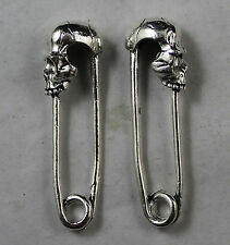 wholesale: 8/40/120pcs Retro style Skull pin alloy charms pendant 50x14mm
