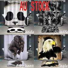 New Animal theme 3D Pattern Fabric Bathroom Shower Curtain Waterproof With Hooks
