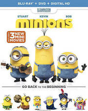 NEW! ~ Minions (Blu-Ray Disc + DVD + Digital HD, 2015, 2-Discs) SANDRA BULLOCK!