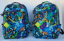 Vera Bradley LAPTOP BACKPACK Large Multi-Compartment Padded Back MIDNIGHT BLUES