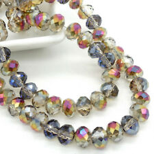 Wholesale lot  Rondelle Faceted Crystal Glass Loose Spacer Beads 3mm4mm6mm8mm #1