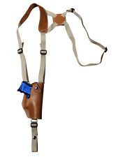 NEW Barsony Vertical Tan Leather Shoulder Holster Steyr Walther Comp 9mm 40 45