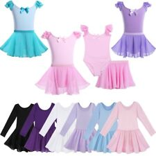 Kids Girls Ballet Dancing Dress Leotard Tutu Skirt Gymnastics Dance Wear Costume