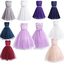 Sequined Kid Flower Girl Dress Baby Bridesmaid Pageant Party Communion Ball Gown