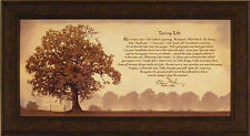 LIVING LIFE by Bonnie Mohr FRAMED ART PRINT PICTURE Tree Inspirational 22x40