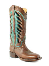 Lucchese M4870 Caterina Womens Cognac Leather Cowboy, Western Boots