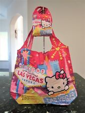 New Hello Kitty Las Vegas Collection Reusable Shopping Bag w/ Matching Pouch
