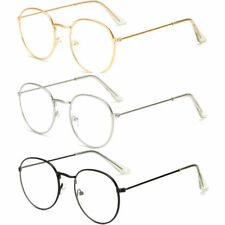 Oval Round Lens Slim Metal Frame Clear lens Fashion Glasses Mens Womens Eyewear