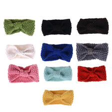 Cute Kids Girl Baby Toddler Crochet Hair Band Bow Headband Accessories Winter