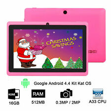 7 Inch Kids Tablet PC Google Android 4.4 Quad Core WIFI 16GB HD Dual Camera Case