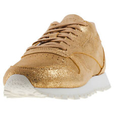 Reebok Classic Leather Shimmer Womens Trainers Gold New Shoes