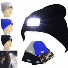 5 LED Light Cap Hat Winter Warm Beanie Angling Hunting Camping Running Fishing a