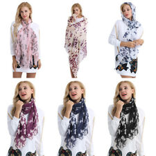 Stylish Women Soft Butterfly Print Neck Long Shawl Scarf Wrap Scarves Causal