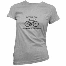 Put The Fun Between Your Legs (Cycling) - Womens / Ladies T-Shirt - Bicycle