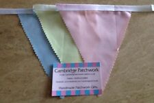 Fabric Baby Shower Pink, Blue & Yellow Bunting , Any lengths handmade