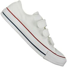 CONVERSE ALL STAR CHUCK TAYLOR 3V OX White Shoes White Touch Fastener Chucks
