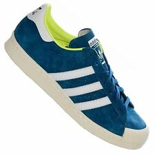 ADIDAS ORIGINALS SUPERSTAR 80s Halfshell Trainers Leather Shoes Sneakers Blue