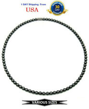 All 6mm Hematite Magnetic Necklace, Magnetic Therapy Necklace #MHN124
