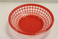 24 EACH - Plastic ROUND FOOD BASKET Fast Food French Fry Sandwich NEW - 3 colors