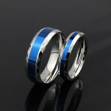316L Stainless Steel Finger Ring men wedding band jewelry thin blue line titaniu