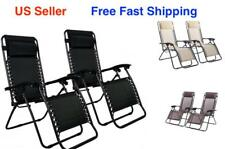New Zero Gravity Chairs Case Of 2 Lounge Patio Chairs Outdoor Yard Beach O62++