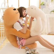 Giant Big Fluffy Bears pillow Soft Animal Toy Stuffed Brown White Doll kids gift