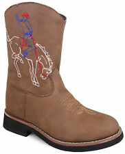 Smoky Mountain Toddlers' Night Horse Slip On Stitched Design Round Toe Brown Dis
