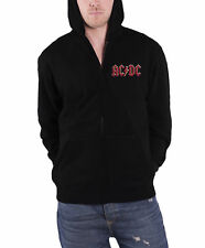 AC/DC Hoodie Highway To Hell band logo new Official Mens Black Zipped
