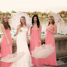 Embroidery Lace Sun Parasol Umbrella for Bridal Wedding Party Photo Decoration