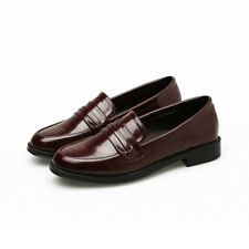 New Women Lady Loafers Oxfords Flats Casual Comfy Low Heels Shoes Preppy British