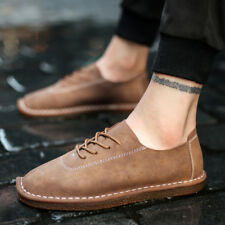 Leather Lightweight Comfy Fashion lace-up casual Moccasins Driving Shoes442