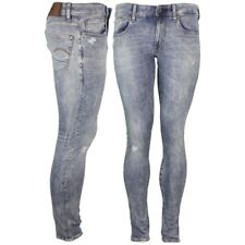 G-Star Raw Jeans Trousers 3301 Deconstructed Destroyed Blue d01159 8969 9114