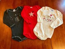Infants Long Sleeved Onsies  Petit Bateau   Size 12 Months Choose Your Fav NWT!!