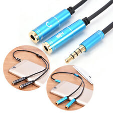 3.5mm jack stereo headphone+mic audio splitter aux extension adapter cable  JR