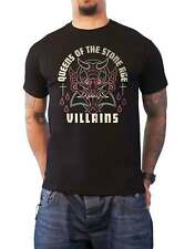 Queens Of The Stone Age T Shirt Villians band logo new Official Mens Black