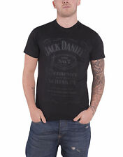 Jack Daniels T Shirt Tennessee Whiskey Foil Print Logo Official Mens New Black