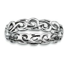 Mesmerizing Silver Stackable Ring Band. Free Shipping!