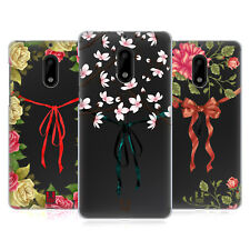 HEAD CASE DESIGNS RIBBON AND FLORALS HARD BACK CASE FOR NOKIA PHONES 1