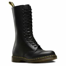 Dr.Martens 1914 14-Eyelet Black Mens Smooth Leather Mid-calf Boots