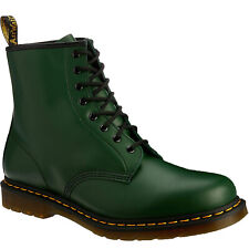 Dr.Martens 1460 8 Eyelet Green Womens Leather Casual Punk Ankle AirWair Boots